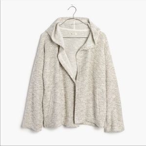 Madewell textured hooded cardigan/jacket